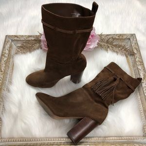 Vince Camuto Brown Fermel Slouch Tassel Boots